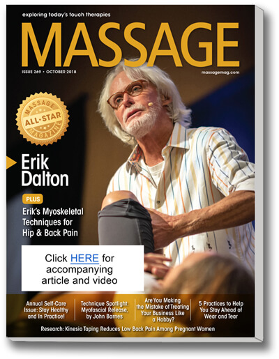 Renowned myoskeletal therapist Erik Dalton, PhD, has a broad therapeutic background in massage, Rolfing and manipulative osteopathy.