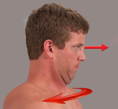 Fig. 4. Brain-based self-care exercise for cervical rotation restriction.