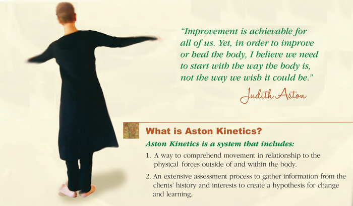 Aston Fitness is a collection of movement forms that are designed to help balance the body and achieve a more integrated neutral.