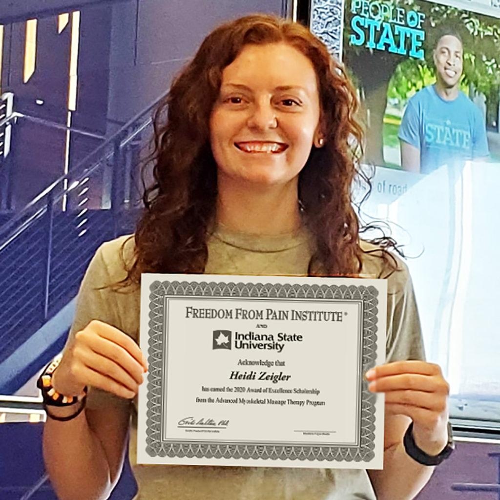 Congratulations to Heidi Zeigler! Winner of the 2020 Indiana State University Erik Dalton Scholarship Award.