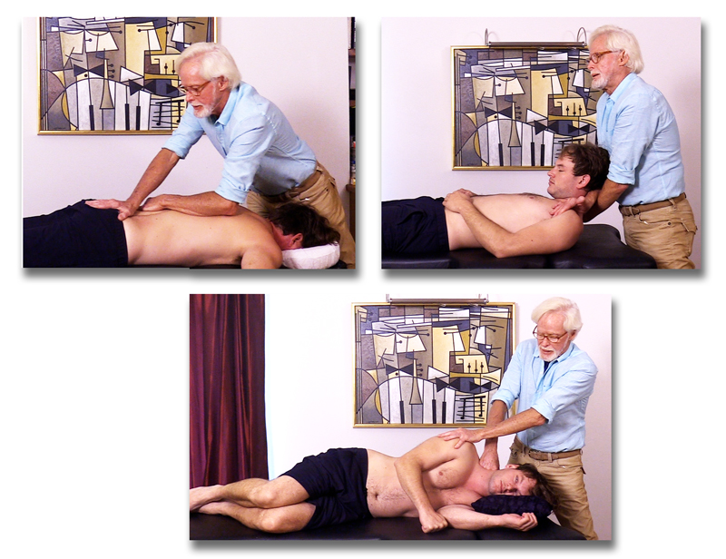 Techniques are demonstrated Prone, Supine and Sidelying