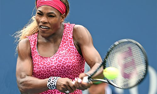 Image 1. See how the amazing tennis star Serena Williams' right arm has adapted to being right hand dominant.