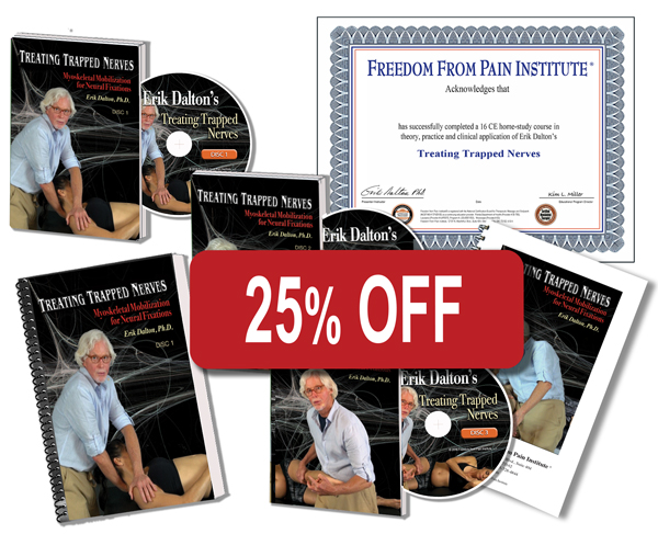 Treating Trapped Nerves Home Study Materials. DVDs, Manuals and Certificate