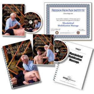 MYOSKELETAL MOBILIZATION MASSAGE COURSE - 2 DVDs, Certificate, manual