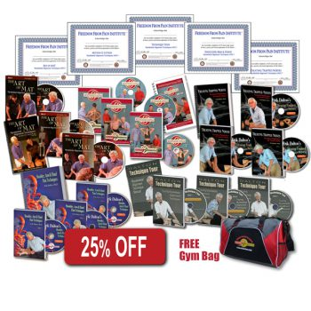 25% off the Advanced Bundle Product DVD's, books, gym bag and Certificates