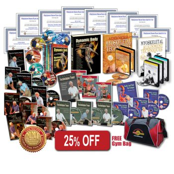 25% off the Complete Library Bundle Product DVD's, books, gym bag and Certificates